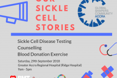 Sickle Cell Awareness Month. September 2018.